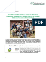 GVI Fiji Achievement Report May 2014- Navunisea School CT Funded Library Project