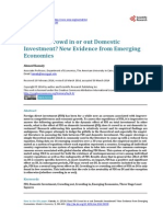 Does FDI Crowd in or Out Domestic Investment New Evidence From Emerging Economies