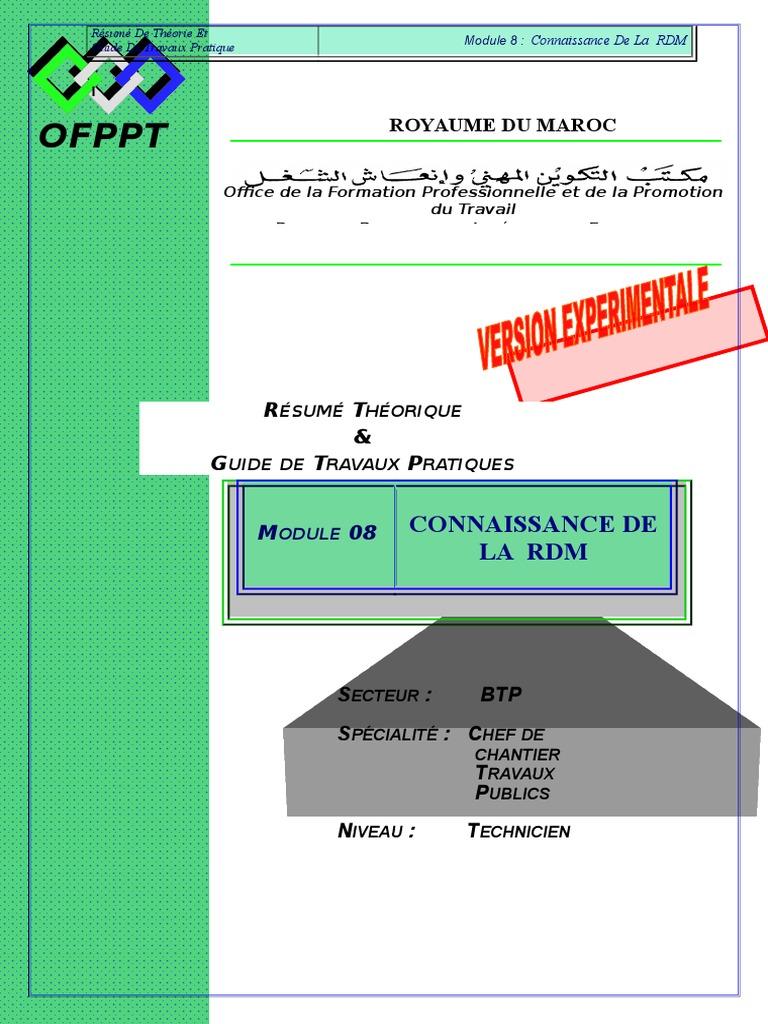 module 08 connaissance de la rdm