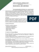 MEONRIA DE  CALCULO DE  INST. ELECTRICAS.docx