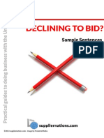 Decline to Bid Sample Sentences