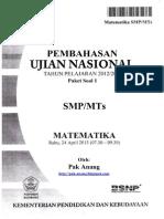 Pembahasan Soal UN Matematika SMP 2013 Paket 1.pdf