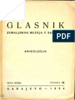 Glasnik Zemaljskog muzeja 1954