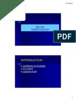 TIMBER DESIGN - INTRODUCTION