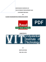 Amul Summer Internship Project