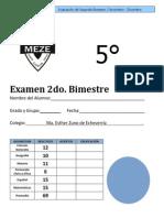 Examen 5º Bimestre 2