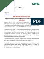 Dublin's BORD GAIS THEATRE - FOR SALE GUIDING €20 million