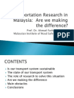 Transportation of Research Are We Making the Difference