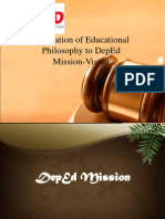 EDUC 604 - Integration of Educational Philosophy to DepEd Mission-Vision