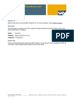 SAP Transport Procedures and Best Practices
