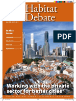 Habitat Debate Vol.14 No. 2, Working With the Private Sector for Better Cities
