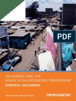 UN-HABITAT and the Kenya Slum Upgrading Programme - Strategy Document
