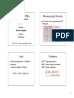 Elec1111 11a Digital Boolean Algebra