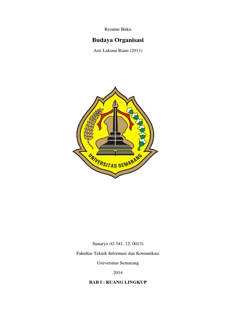 Resume Buku - Budaya Organisasi Oleh Asri Laksmi Riani