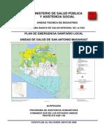 Plan de Emergencia Sanitario Local-unidad de Salud de San Antonio Masahuat