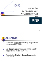 Factories and Machinery Act 1967 (FMA 1967) - Safety Related Regulations