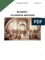 Bloque i Filosofia Antigua