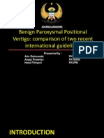 Benign Paroxysmal Positional Vertigo Journal Comparison of Two Recent International Guidelines.ppt