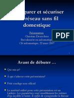 H07 Configurer Securiser Reseau Sans Fil Domestique