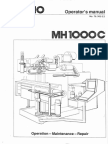 MH1000C Operation-maintenance Repair