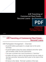 CMBS_A:B Tranching of Commercial Real Estate-Secured Loans