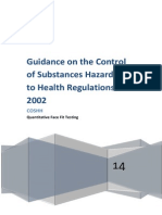 Guidance on the Control of Substances Hazardous to Health Regulations 2002