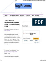 Trick to Get Dofollow Backlink From Google Drive PR8