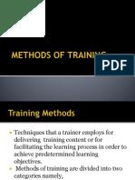 Methods of Training Powerpoint