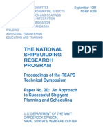 Nrsp 0008 - An Approach to Successful Shipyard Planning and Scheduling