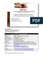 BEPAA-IHS (Integrated Health Sciences) Syllabus