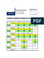 Calendario Examenes Easa Junio 13