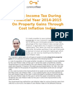 Saving Income Tax During Financial Year 2014-2015 on Property Gains Through Cost Inflation Index
