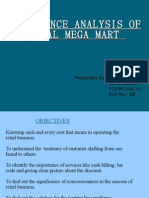Performance Analysis of Vishal Mega Mart