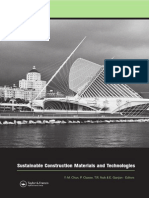 Sustainable Construction Materials and Technologies
