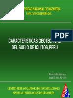Caracteristicas Geotecnicas Iquitos