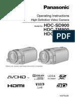 Panasonic HDC HS 900 Guide Eng