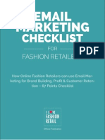 How Online Fashion Retailers can use Email Marketing for Brand Building, Profit & Customer Retention – 67 Points Checklist