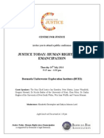 Justice Today - Conference Flyer