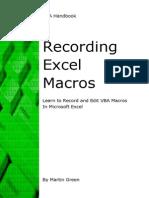 Recording Excel Macros - 121213