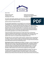 Family Business Coalition Letter