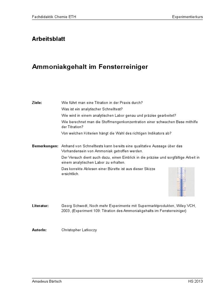 Unique Titration Arbeitsblatt Mit Antworten Collection - Mathe ...
