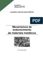 Mecanismos de Endurecimento de Materiais Metálicos