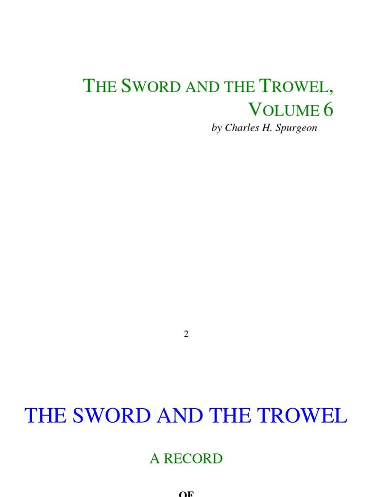 Spurgeon Charles Sword And Trowel Vol 6 Sermon Briggs Stratton Carburetor Diagram Get Domain Pictures