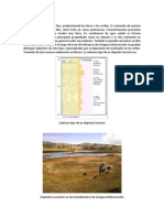 Bosquejo Depósitos Lacustres Laguna de Chamis