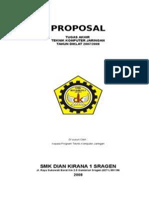 Proposal Proyek Tugas Akhir Tkj
