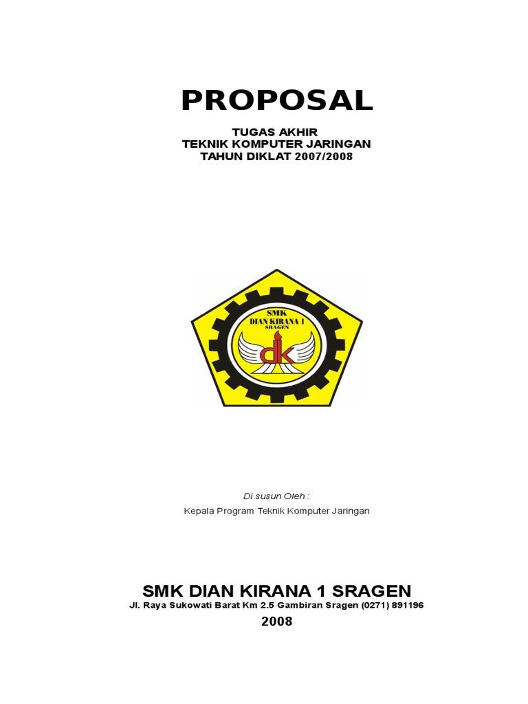 Contoh Proposal Tugas Akhir Teknik Komputer Jaringan Berbagi Contoh Proposal