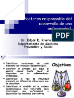 Factores responsable del desarrollo de una enfermedader