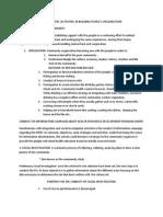 CRITICAL STEPS in Community Organization