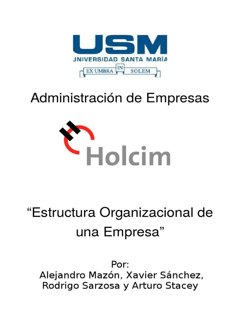 Estructura Organizacional Holcim Ecuador