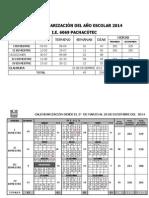 calendarizacion 2014
